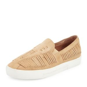 Joie Huxley Huarache Slip On Shoes Leather Buff